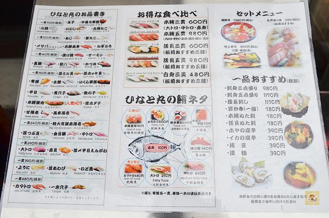 ひなと丸, 淺草美食推薦, 淺草寺美食, 淺草便宜壽司, 淺草必吃美食